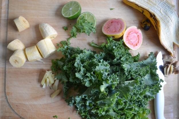 Kale, Guava, Plantains